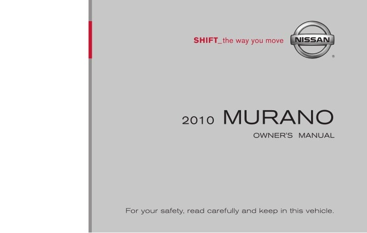parts manual for 2010 nissan murano