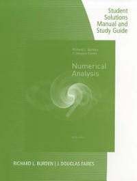 manual solution numerical analysis 7 edition