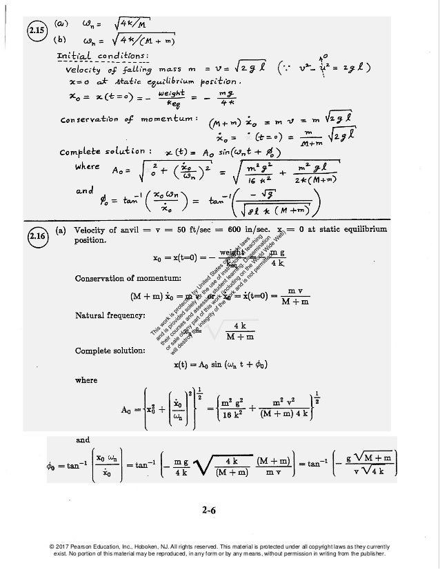 mechanical vibrations 6th edition rao solutions manual