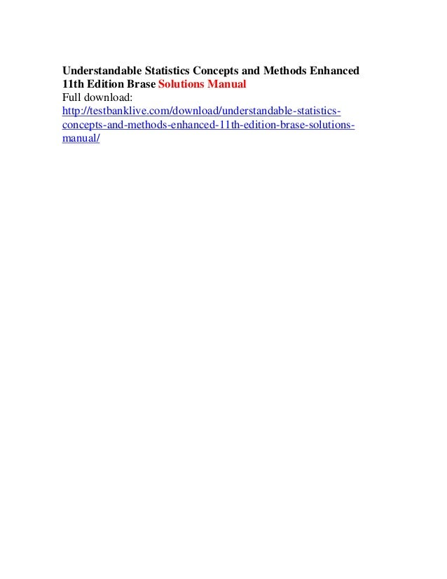 understandable statistics 9th edition solution manual