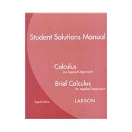 applied calculus larson solutions manual