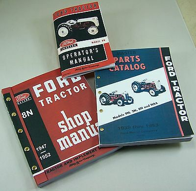 ford tractor parts manual content