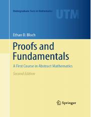 proofs and fundamentals bloch solutions manual